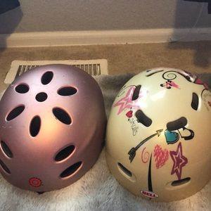 2 girls bike helmets
